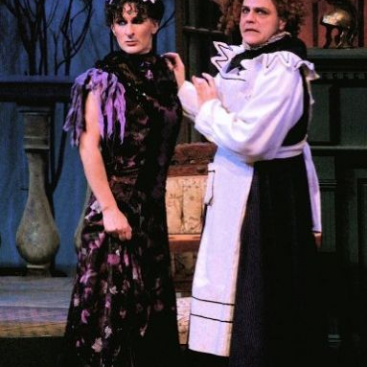 As Lady Enid with Tom Souhrada in The Mystery of Irma Vep