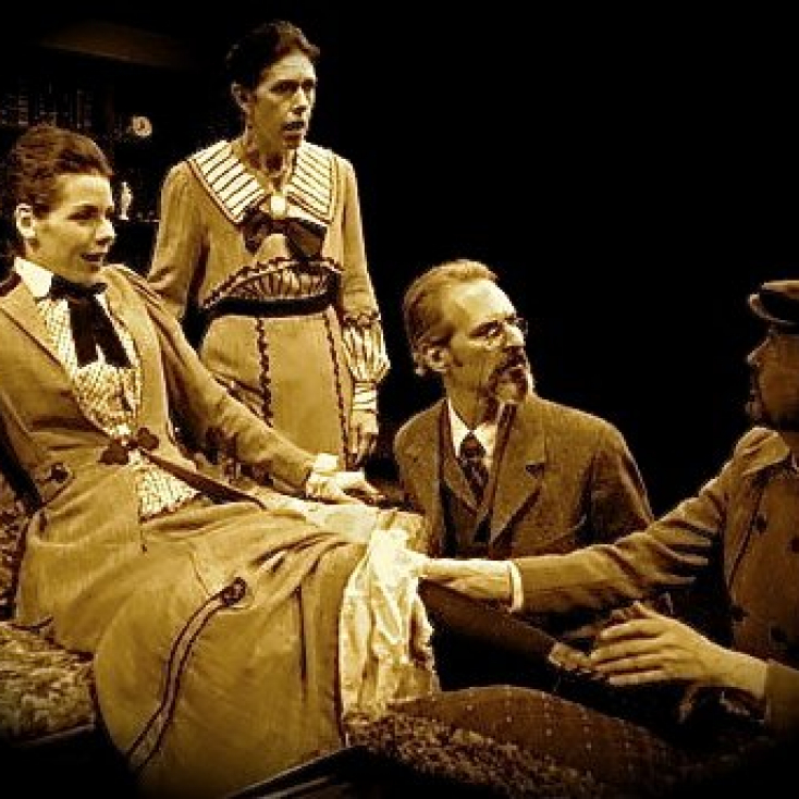 As Sidney Webb with Claire Warden, Victoria Vance and Warren Kelly in Engaging Shaw