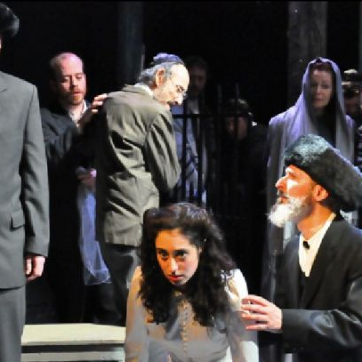 As Reb Sender with Brian J. Clark, Daniel Owen Dungan, Jerry Matz, Rachel Claire, Rosalinda Perron and Joy Franz in The Dybbuk