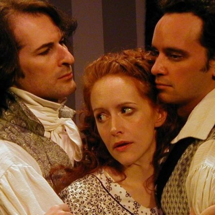 As Lord Byron with Abby Royle and Brad Malow in The Frankenstein Summer