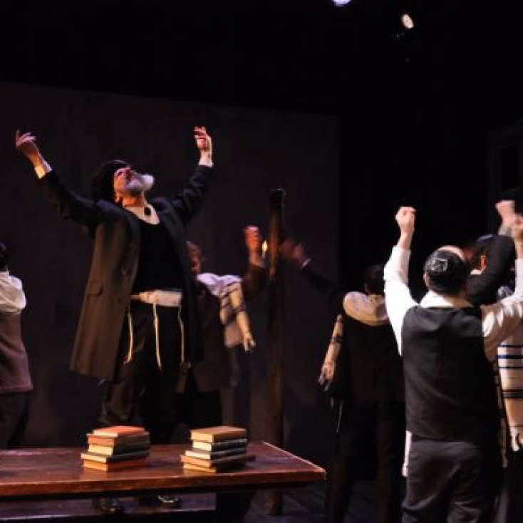 As Reb Sender with the company in The Dybbuk