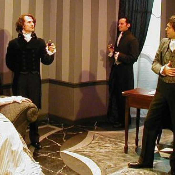 As Lord Byron with Abby Royle, Tracey Gilbert, Brad Malow, Brendan McMahon and Bill Roulet in The Frankenstein Summer