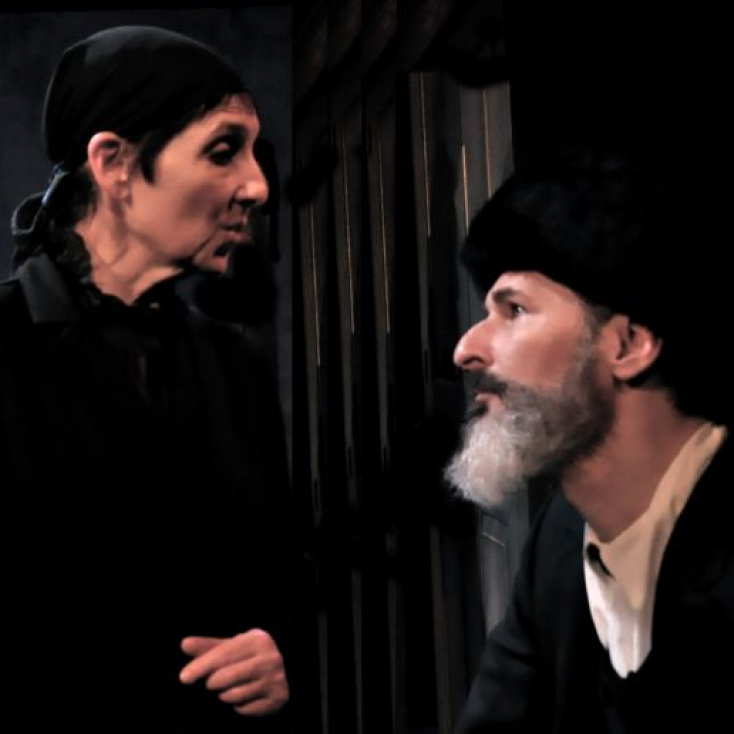 As Reb Sender with Loni Ackerman in The Dybbuk
