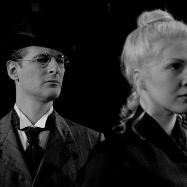 As Baron Tuzenbach with Julie Leedes in Three Sisters