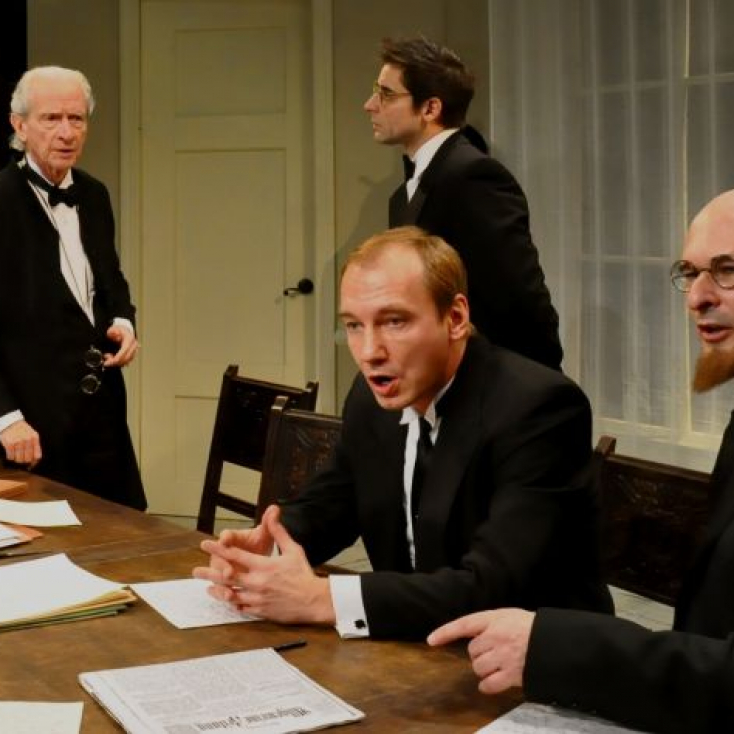 As Lowenstein with Geddeth Smith, Christopher Lee and Stass Klassen in Professor Bernhardi