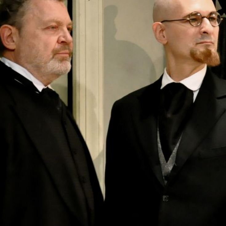 As Lowenstein with Sam Tsoutsouvas in Professor Bernhardi
