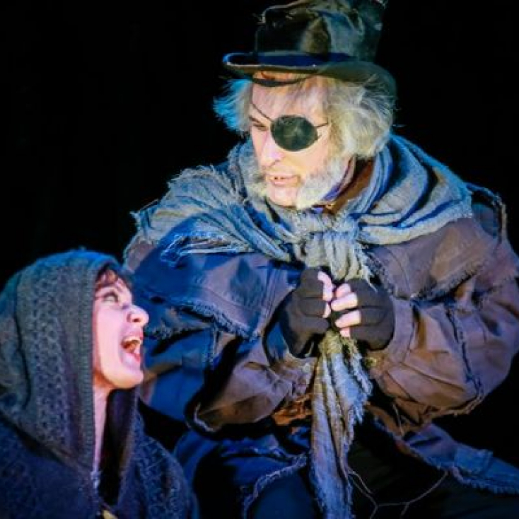 "As Old Joe in ""A Christmas Carol"" at the Hanover Theatre"