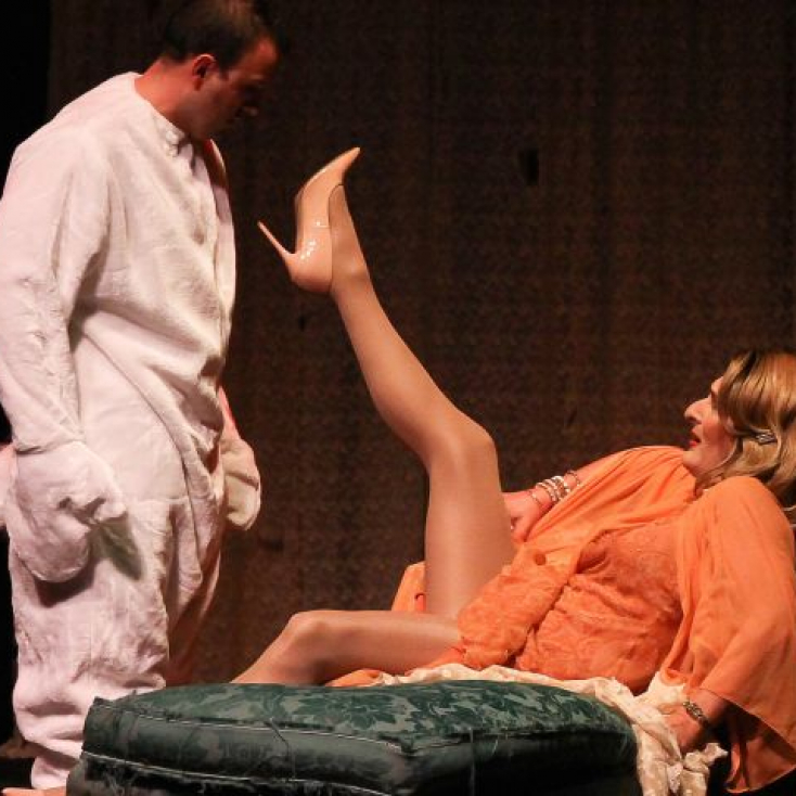 "As Blanche DuBois in ""Desire, Desire, Desire"" at The Theater Project"