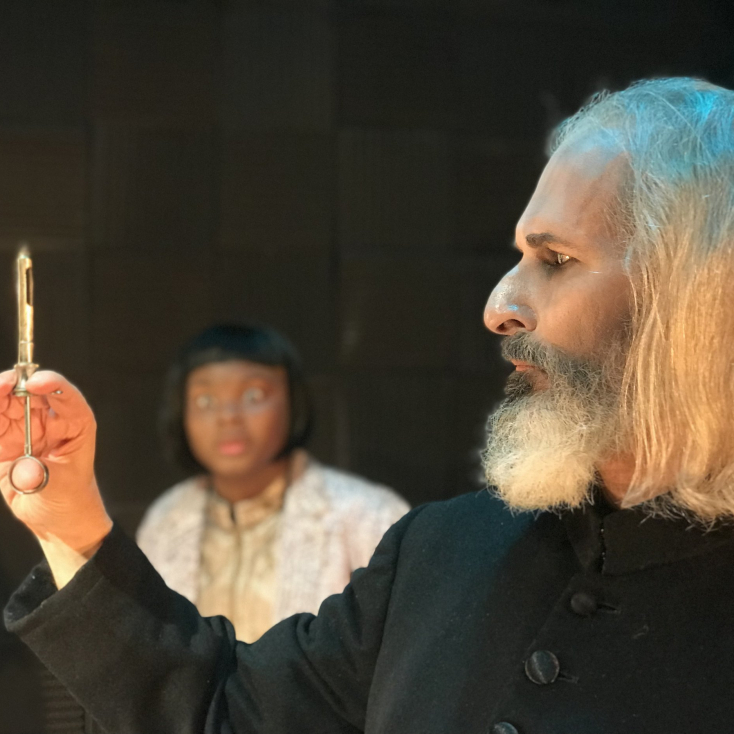 "As The Witch Finder in ""Darkside"" at Burning Coal Theatre"